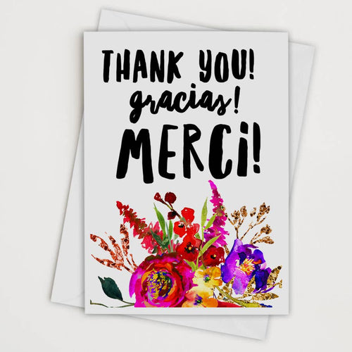 Thank You Gracias Merci Card