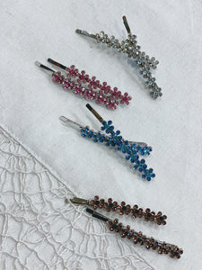 Crystal Floral Hair Pins