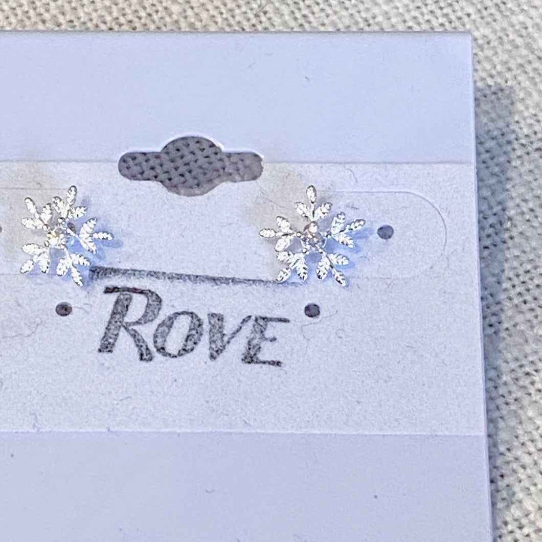 It's Cold In Buffalo Snowflake Earrings