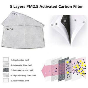 5 Layer PM2.5 Face Mask Filter Bundles