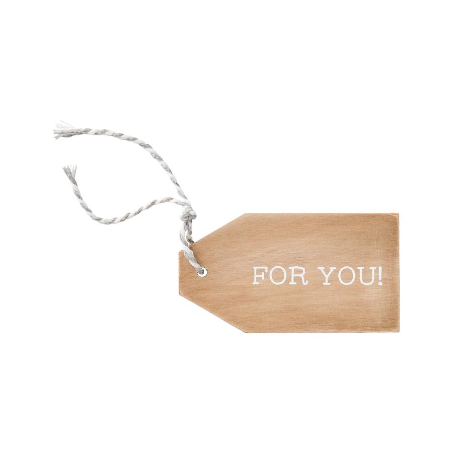 For You Wooden Gift Tag
