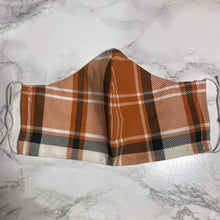 Load image into Gallery viewer, Terracotta Orange Plaid  - Buffalo Face Mask