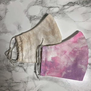 Cloudy Pink Purple Sky Tie Dye  - Buffalo Face Mask