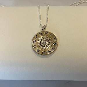 Zodiac Coin Pendant Necklace
