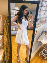 Load image into Gallery viewer, Surplice White V-Neck Dress