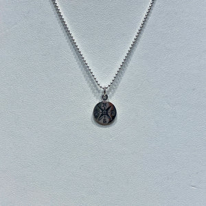 Guiding Compass Sterling Silver Necklace