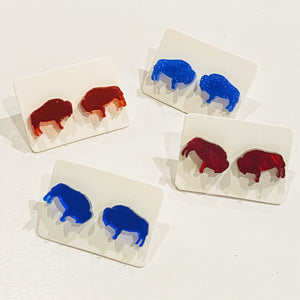 Buffalo Blue & Red Stud - Various Styles