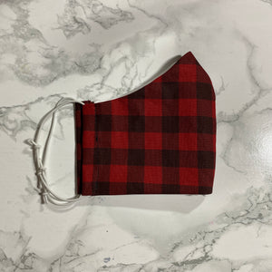 Red Buffalo Check  - Buffalo Face Mask