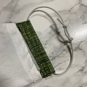 Green Cross Hatch - Buffalo Face Mask