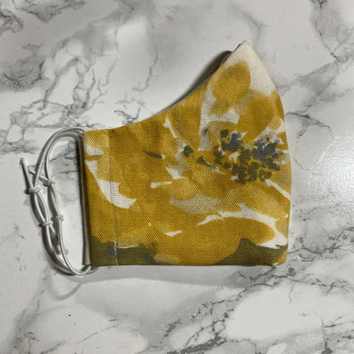 Yellow Floral - Buffalo Face Mask