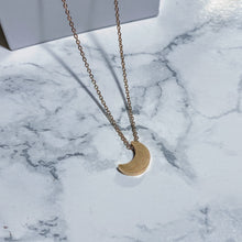 Load image into Gallery viewer, Mini Gold Moon Pendant Necklace