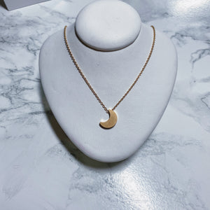Mini Gold Moon Pendant Necklace
