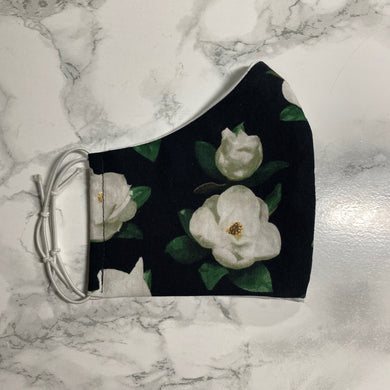 Black Floral - Buffalo Face Mask