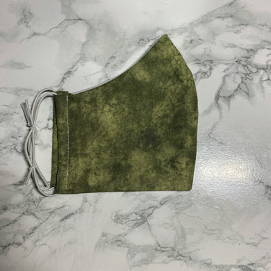 Cloudy Green Camo  - Buffalo Face Mask