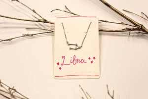 Sterling Silver Zodiac Constellation Necklace
