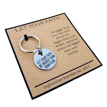 Let Your Faith Be Bigger Inspirational Key Chain
