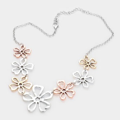 Flower Link Necklace Set
