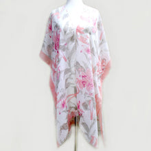 Load image into Gallery viewer, Flower Print Pink Kimono