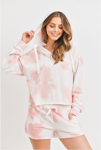 Pink Cotton Candy Tie Dye Hoodie