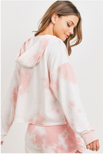 Load image into Gallery viewer, Pink Cotton Candy Tie Dye Hoodie
