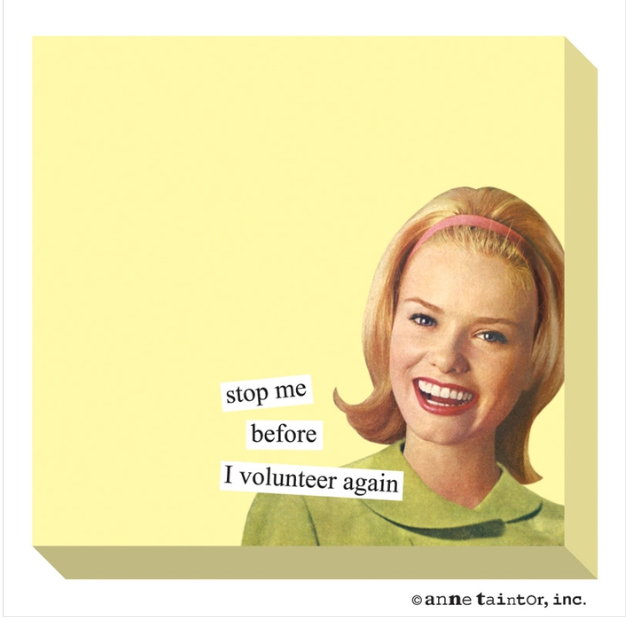 Volunteer- Sticky Notes