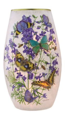 Butterflies and Lavender Pre-Lit Med Vase (3 Styles)