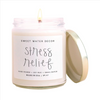 Stress Relief Soy Candle | White Jar Gold Top