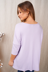 Lavender Three-Quarter Sleeve Top