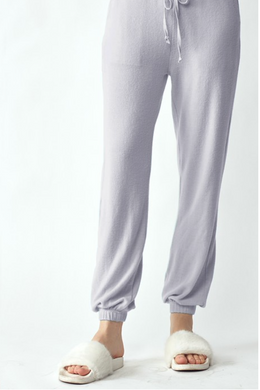 Ultra Soft Lavender Cuffed Lounge Pants