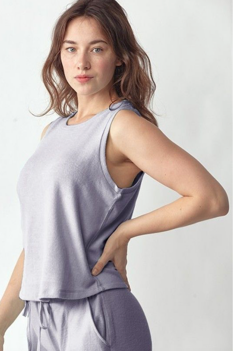 Ultra Soft Lavender Crew Neck Tee