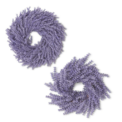 2 Purple Lavender Wreaths