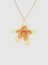 Load image into Gallery viewer, Acetate Metal Floral Flower Pendant Choker Necklace (Three colors)