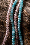 8mm Aqua Jade Natural Gemstone Bracelet (2 Styles)