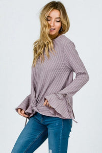 Bow Detailed Flare Sleeve Sweater