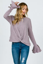 Load image into Gallery viewer, Bow Detailed Flare Sleeve Sweater