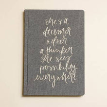 Load image into Gallery viewer, She's a Dreamer Fabric Journal