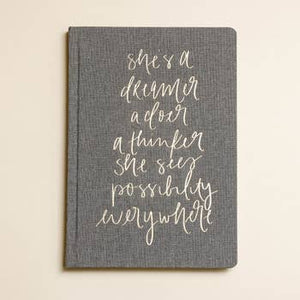 She's a Dreamer Fabric Journal