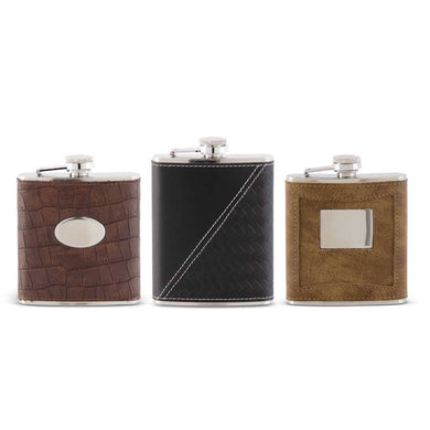 Assorted Leather Flasks (3 Styles)