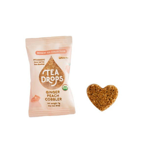 Single Serve Tea Drops - Ginger Peach Cobbler