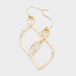 Gold Infinity Dangle Earrings