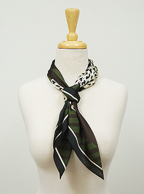 Olive and Black Animal Print Hair Scarf