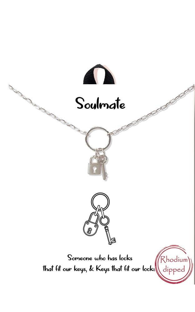Soulmate Lock and Key Delicate Necklace