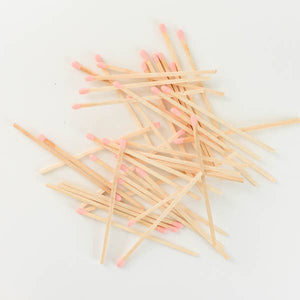 Pink Safety Matches in Glass Jar