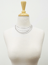 Load image into Gallery viewer, Metal Multi Layered Chain Choker Necklace
