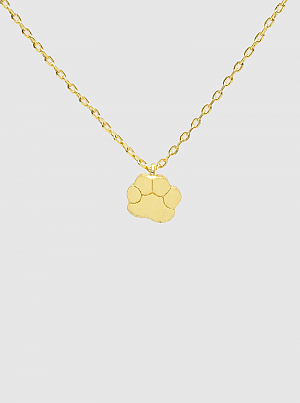 Gold Dipped Paw Pendant Necklace