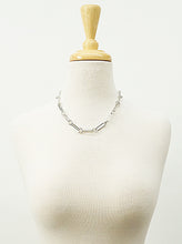 Load image into Gallery viewer, Rhodium Plated Metal Link Hardware Chain Choker Necklace