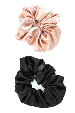 Solid Satin Scrunchies - 2 Colors
