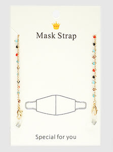 Seed Beads Multi Color Mask Strap