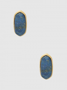 Semiprecious Natural Stone Oval Shape Post Stud Earrings