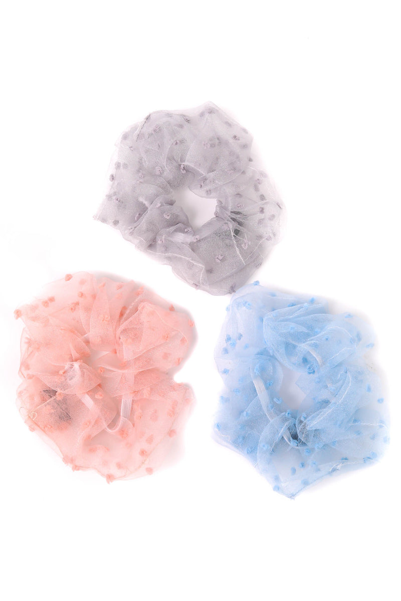 Tull Swiss Dot Scrunchies - 3 Colors